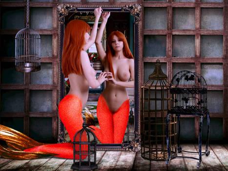 Mermaid Disharmonica ~ I just want to go home! by sirenabonita