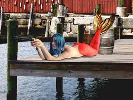 Mermaid Chelsea ~ Target Practice by sirenabonita