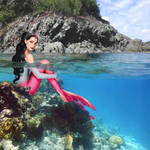 Mermaid Katy at Trunk Cay