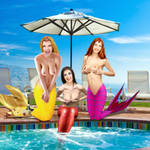 Mermaids Genie, Nerie and Eva ~ Outtake #1 by sirenabonita