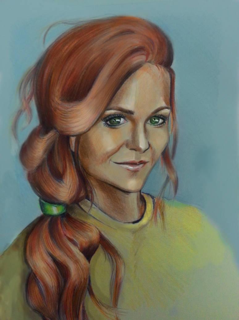 Nina Dobrev red-haired