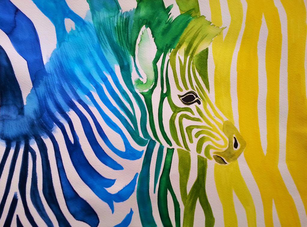 Regenbogen-Zebra by ZiskaJa