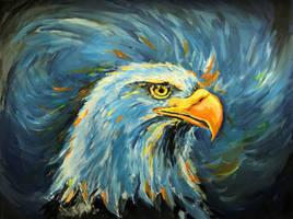 Bald Headed Eagle by ZiskaJa