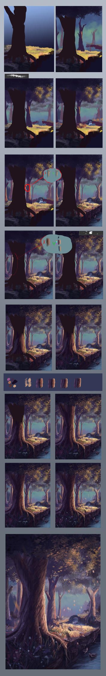 Step by step #2(fairy tree) by Sylar113