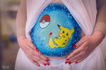 Belly Painting by VioletteSucree