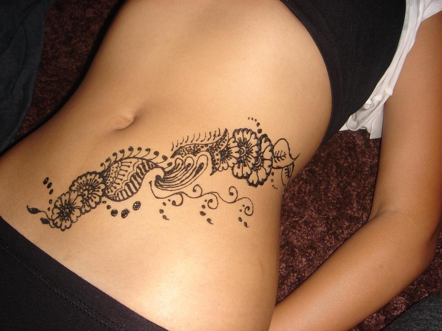 Mehndi Tattoo Stomach : Henna on belly by samsgirl deviantart