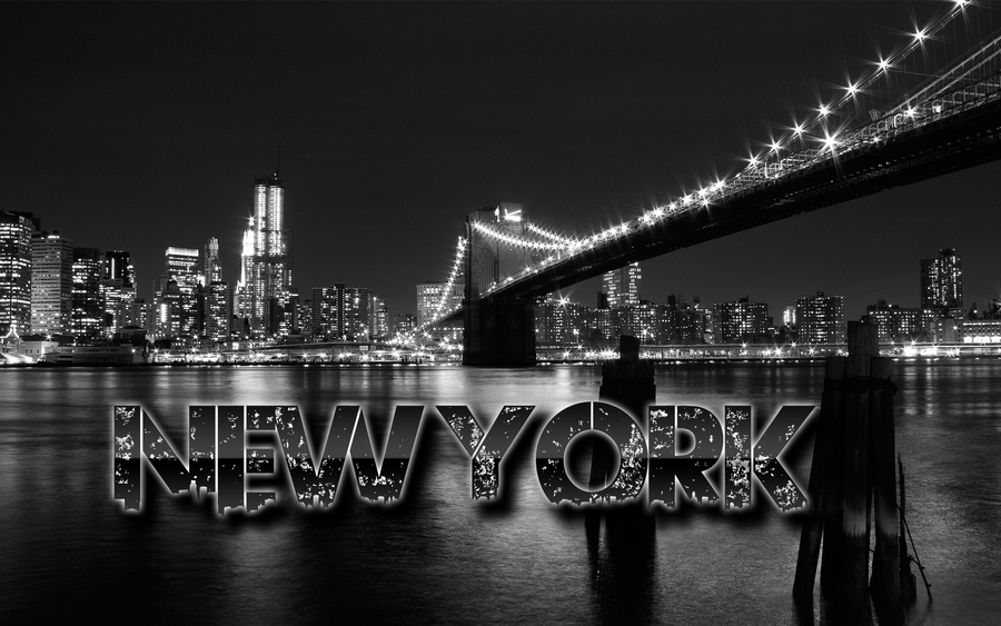 Brooklyn bridge wallpaper by maniosdesigns on deviantart for Black and white new york mural wallpaper