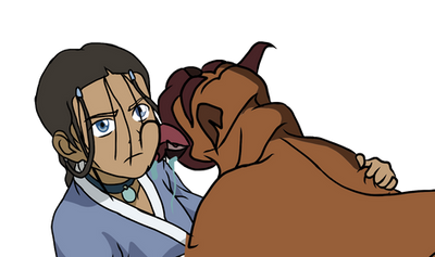 Spike and Katara by InBloom66