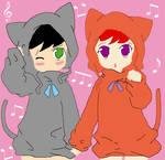 KetaYima as kittens.:Base:. by erisama