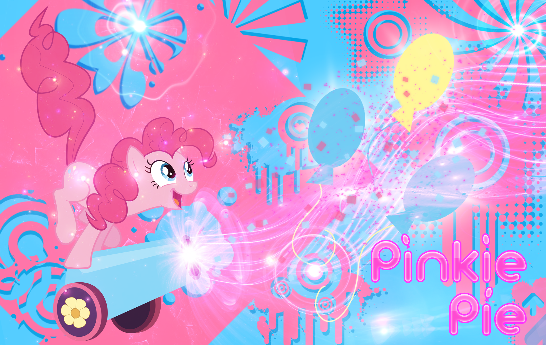 Pinkie Laughter Pie Wallpaper by MLArtSpecter