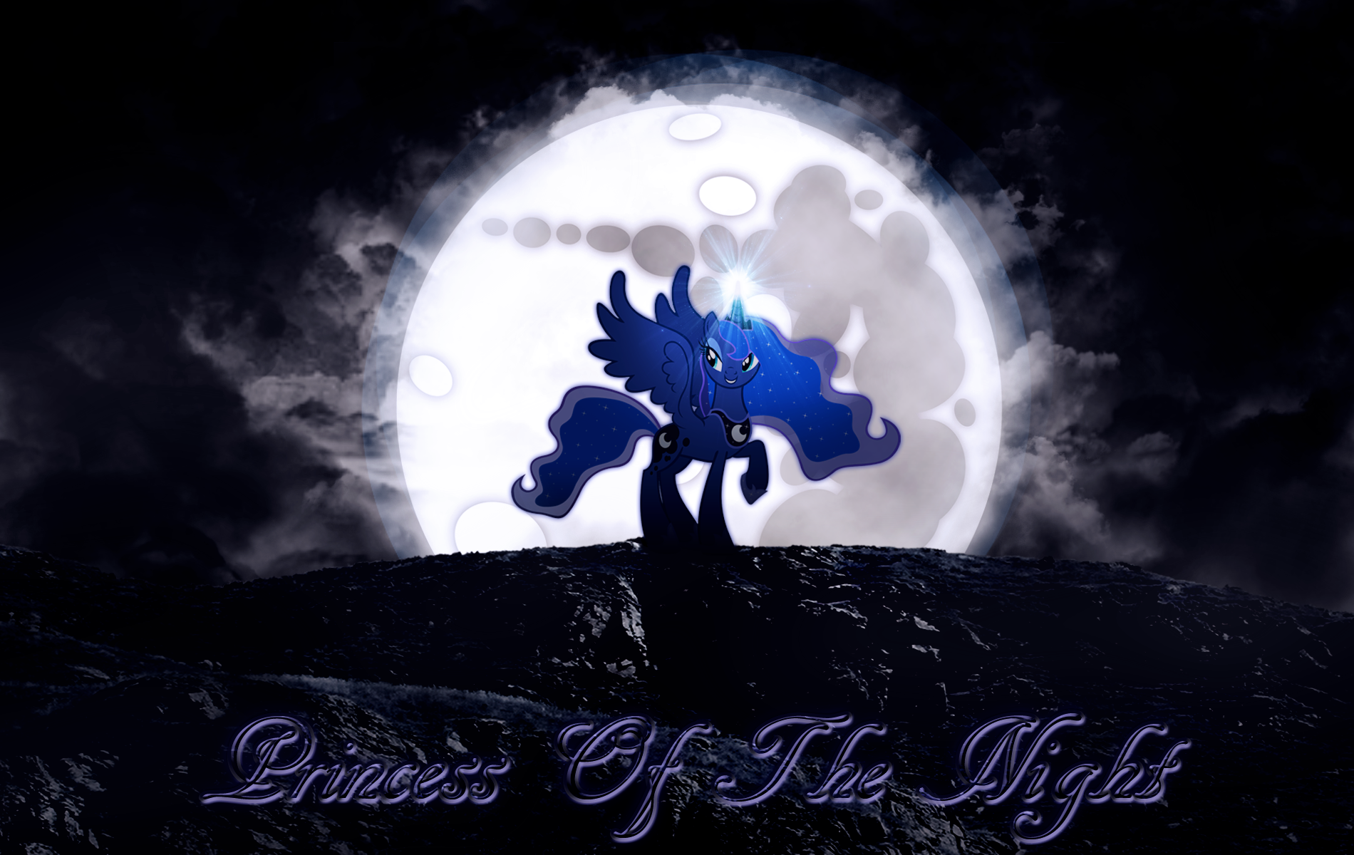 Princess Of The Night (Luna) Wallpaper by MLArtSpecter