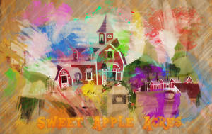 Sweet Apple Acres Paint Wallpaper by MLArtSpecter