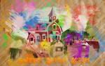 Sweet Apple Acres Paint Wallpaper