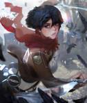 Mikasa Ackerman fan art