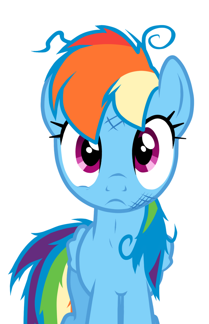 Rainbow Dash Blank Expression by MIeLZSimmonS