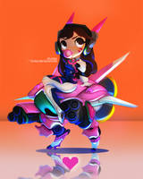 Little D.va by Stumpu