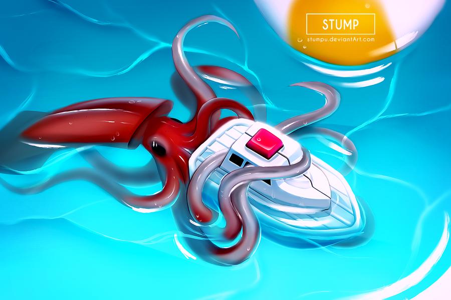 Baby Kraken Attack by Stumpu