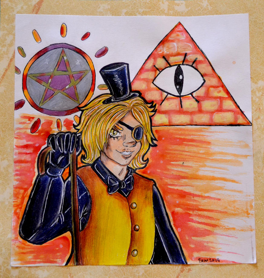 Bill Cipher - The Crayola Challenge by DracosDerpyHoof