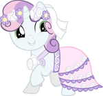 Sweety Belle in her wedding dress