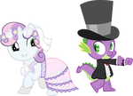 Spike and Sweety Belle