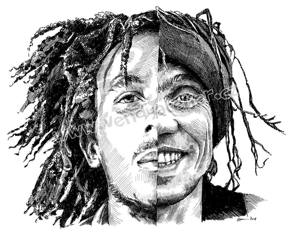 Bob Marley a Manu Chao by Vomajda