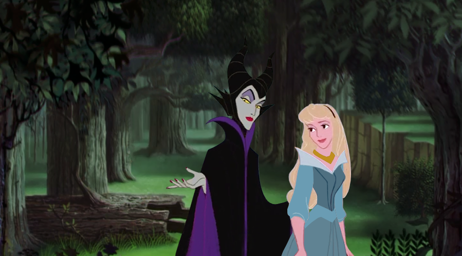 Aurora and Maleficent by midnightbokeh on DeviantArt