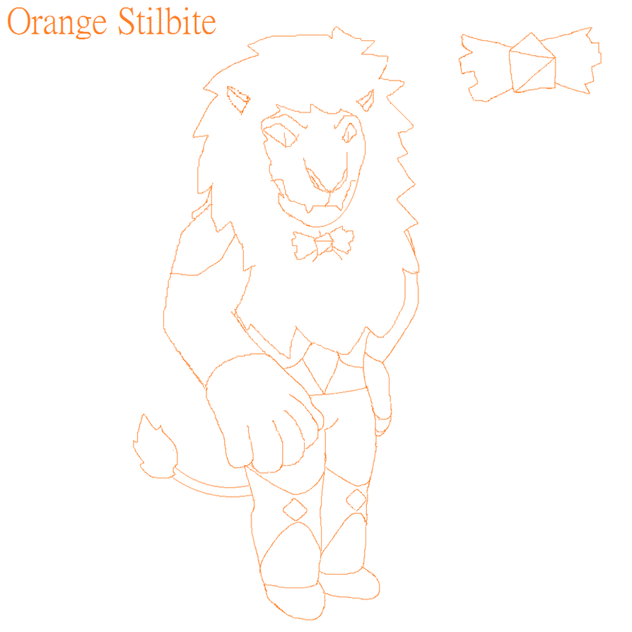 Orange Stilbite Sketch by GIRGHGH