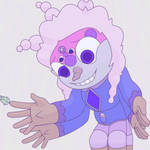 Lavender Anhydrite and Snow Pearl Fusion