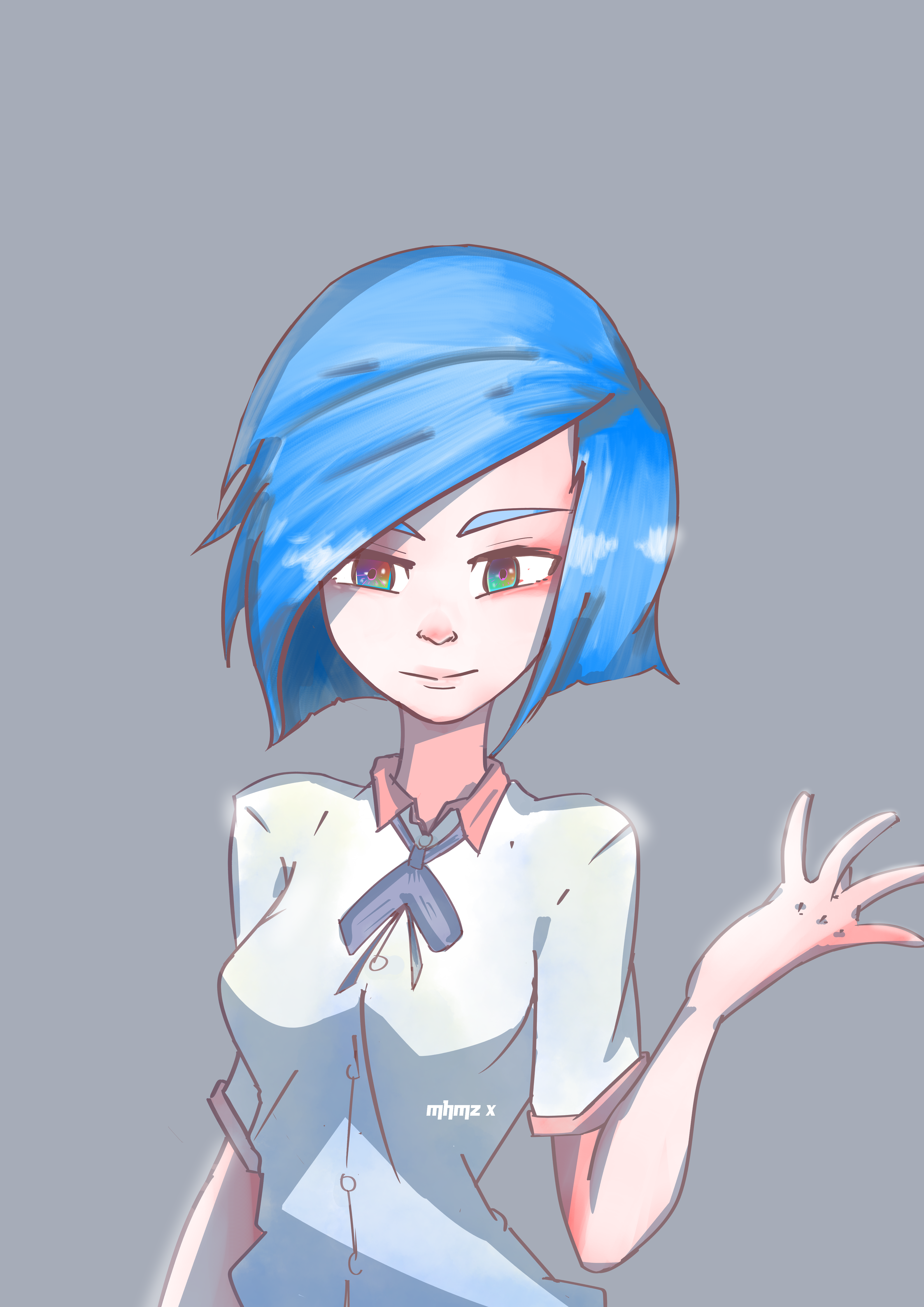 Cool Girl Short Hair Draw Girl By Mhmzx On Deviantart