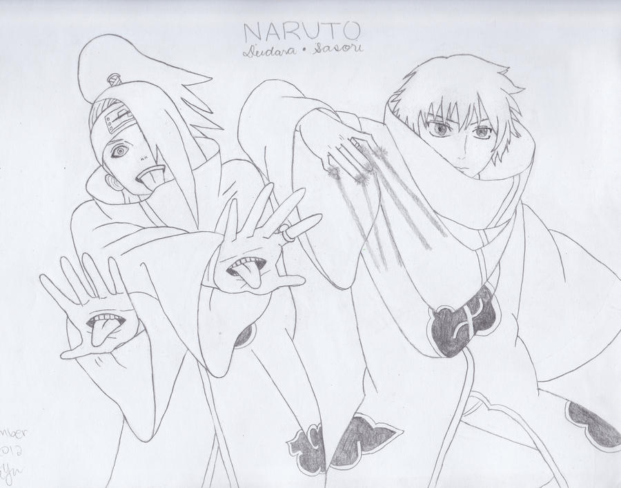 Deidara And Sasori By Bowdownbeforevia On Deviantart