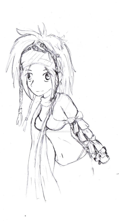 Commission : Rikku by SammyGoddess