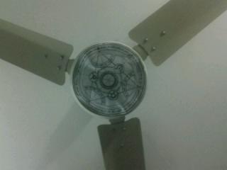 Transmutaion Circle on my celing fan by AlphonseMendakusai