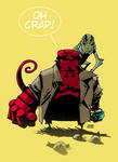 Abe and Hellboy