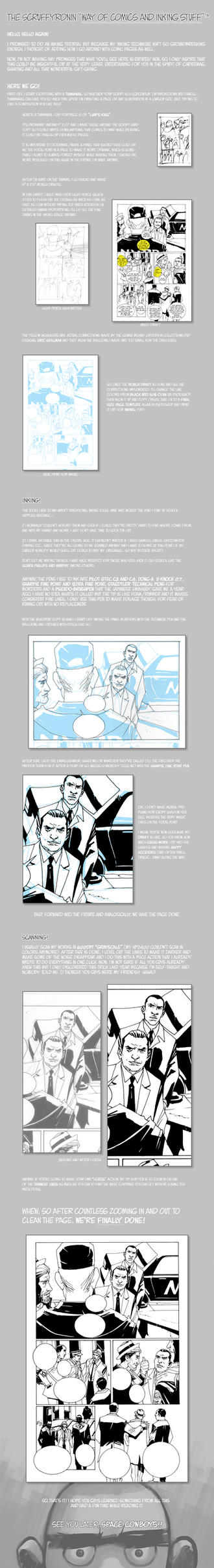 Comics and Inking Walkthrough by scruffyronin