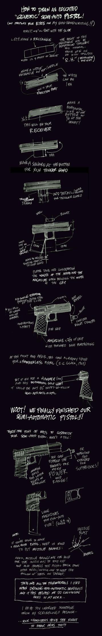 How to Draw a Semi-Auto Pistol by scruffyronin