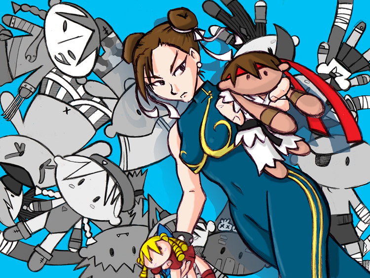 Chun Li and her dolls by Erikyasha