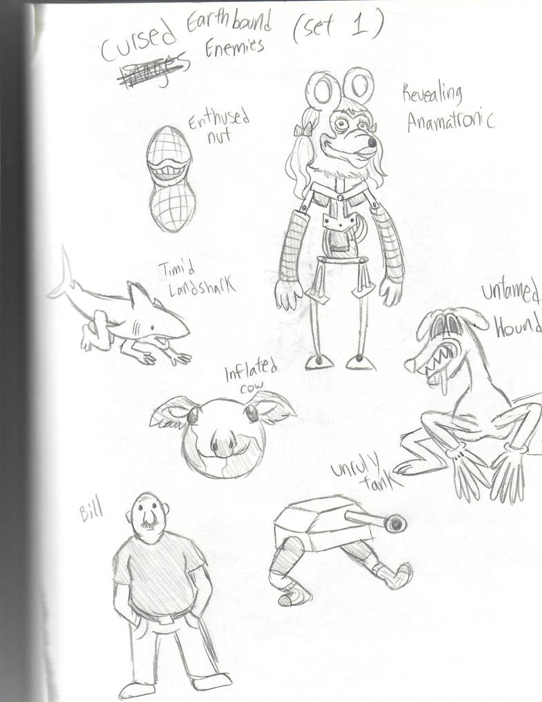 Cursed Images Earthbound Enemy Meme Set 1 By Umbrellafrogg On