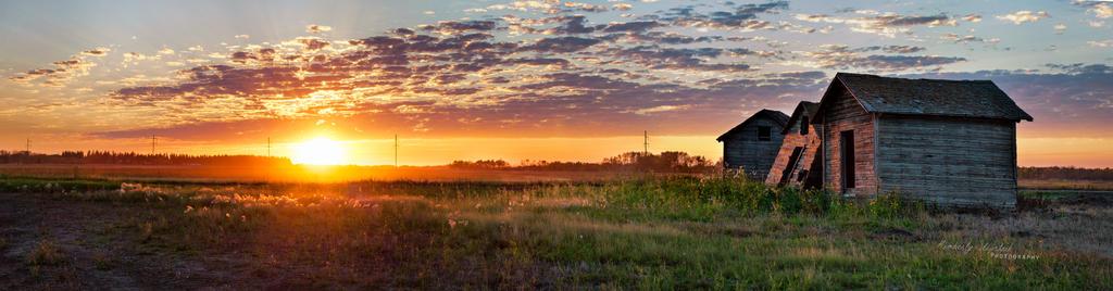 Abandoned at Sunset by KimberleePhotography