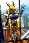 Renamon Show Her New Bikini - (COMMISSION) by AnthroArtCreations