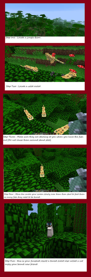 Minecraft Step by step to tame an ocelot