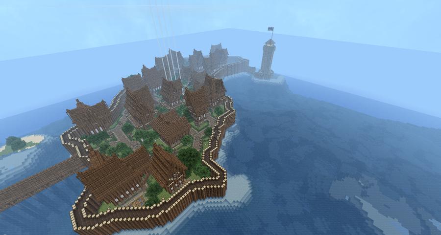 Minecraft Town Re-build! by Pugwis