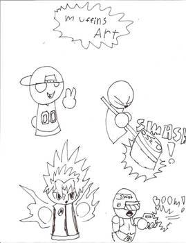 Some random drawings by Muffinsfreak