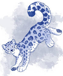 Snep leaping down