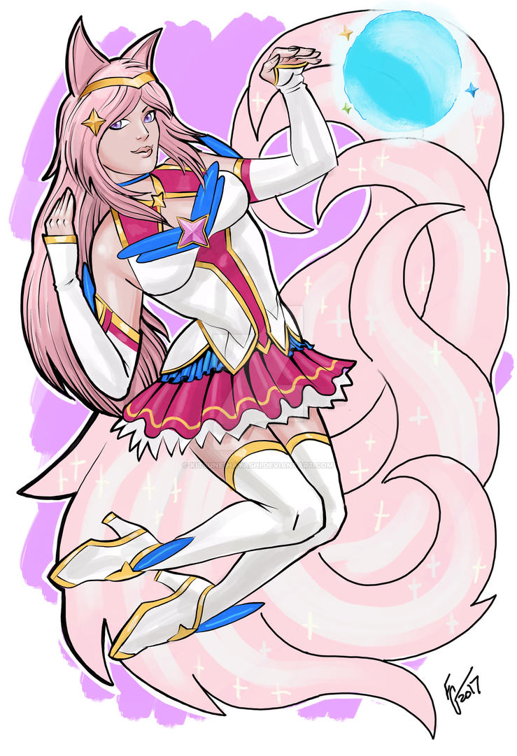 Star Guardian Ahri (Commission by Fuad1138) by Kitsune-Hayashi