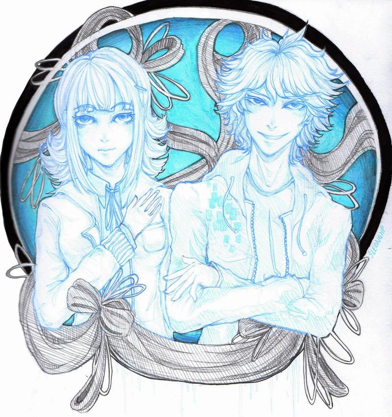 Komaeda and Nanami by sleonghp