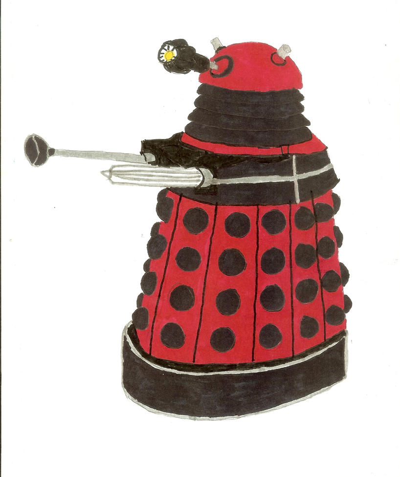 red dalek by saltshakercat on deviantart