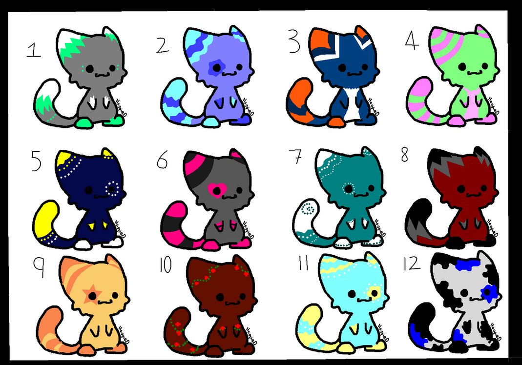 Chibi Cat Adoptables! 4pts or draw to adopt! by ...  Warrior Cat Chibi