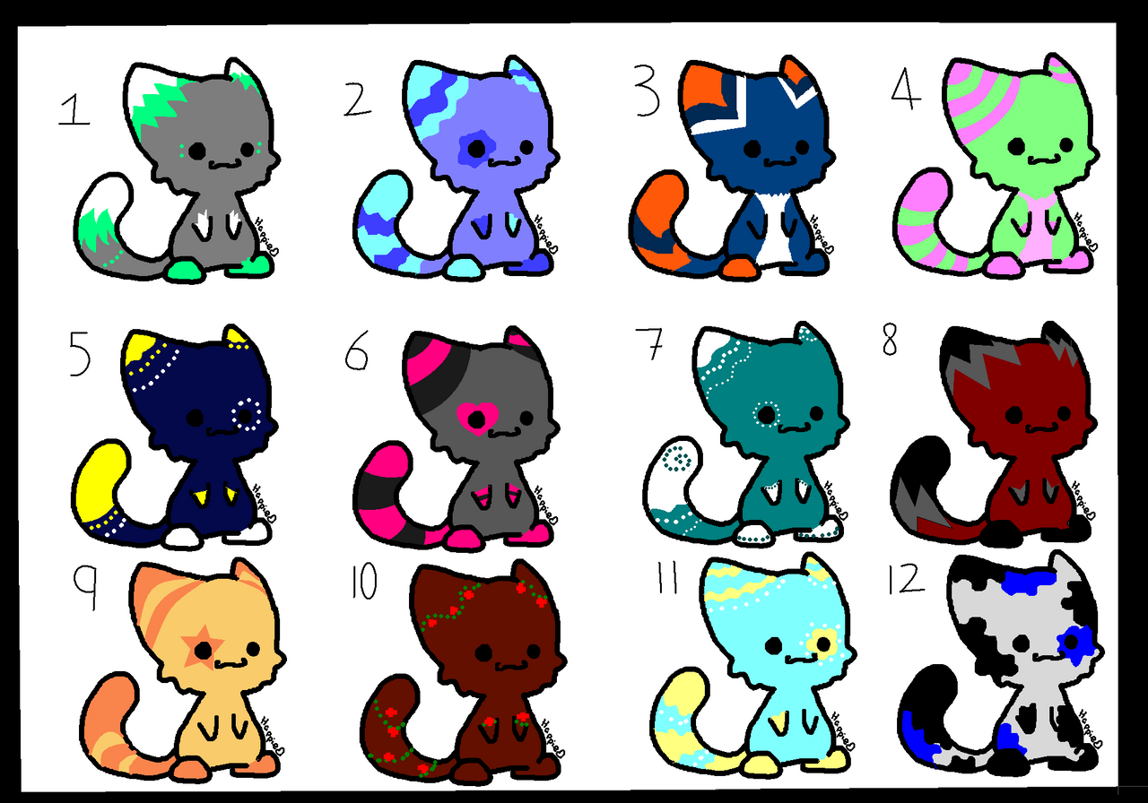 Chibi cat adoptables 4pts or draw to adopt by for Fun to draw cat