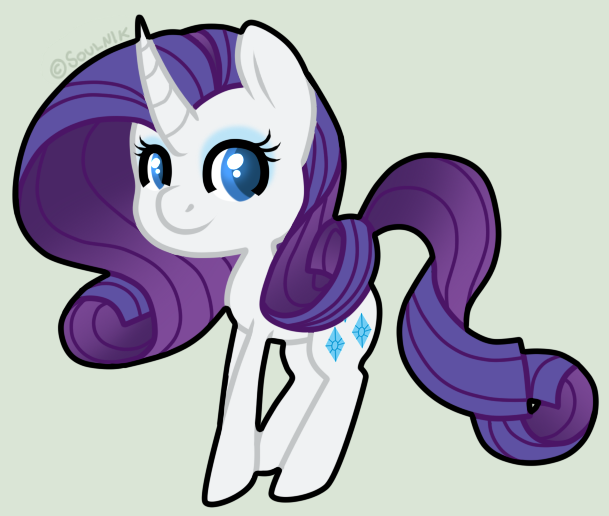 Rarity chibi by Soulnik on DeviantArt