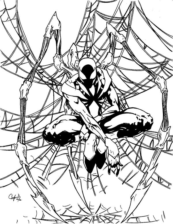 Iron spiderman by sojiokage on deviantart for Iron spiderman coloring pages
